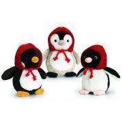 Plüssök - Madarak - Plüss téli pingvin sapkában