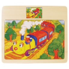 Fa puzzle - Vonatos - Kirakós játék kicsiknek