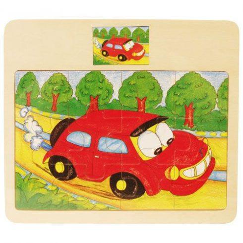Fa puzzle - Autós