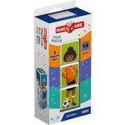 Építőjátékok gyerekeknek - Műanyagból - Magicube Sportok 3 db-os mágneses építőkocka szett