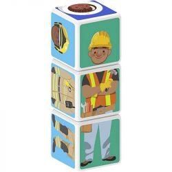 Építőjátékok gyerekeknek - Műanyagból - Magicube Foglalkozások 3 db-os mágneses építőkocka