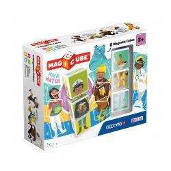 Építőjátékok gyerekeknek - Magicube Foglalkozások, állatok 6 db-os mágneses építőkocka szett