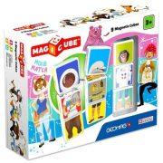 Építőjátékok gyerekeknek - Magicube 9 db-os mágneses építőkocka szett foglalkozás, állat, sport