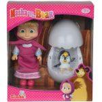 Játék babák- Masha és a Medve pingvin tojással