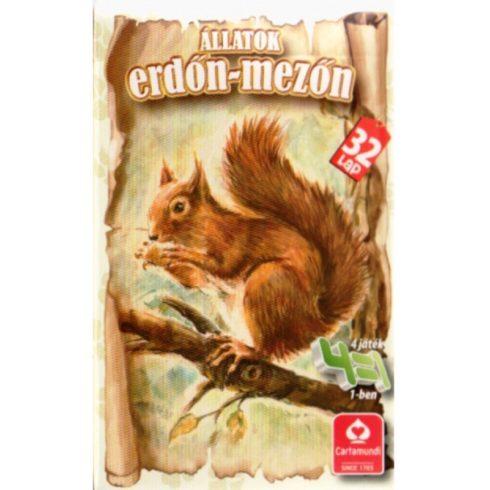 Kártyajátékok - Állatok az erdőn, mezőn kártyajáték 4 az 1-ben - Cartamundi