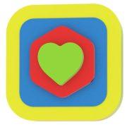 Bébi játék Milla Minis My first puzzle négyzet alakú szív összerakosgató