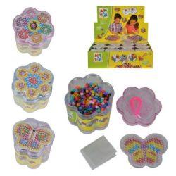 Kreatív játékok - Vasalható Gyöngyök 1300 db Virágos dobozban