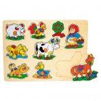 Fa puzzle - Fogantyús bárányos kicsiknek