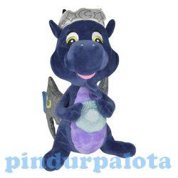 Plüss mesefigurák - Plüss mesehősök - Plüss sárkány Safiras csillogó szárnyú sötétkék-lila 25cm