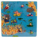 Fogantyús puzzle - Nyári kép kisállatokkal