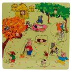Puzzle kirakók - Fogantyús puzzle ősz