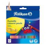 Írószerek-iskolaszerek - Íróeszközök - Pelikan trio színesceruza 24 darabos