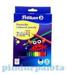 Írószerek-iskolaszerek - Íróeszközök - Pelikan hatszög alakú színesceruza 36 db