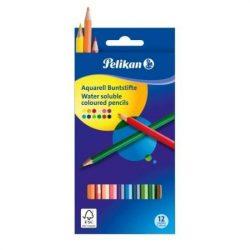 Írószerek-iskolaszerek - Íróeszközök - Pelikán akvarell színes ceruza 12 darabos