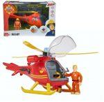 Sam a tűzoltó játékok - helikopter figurával Wallaby Simba