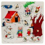 Puzzle kirakók - Fogantyús puzzle tél