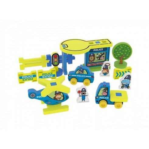 Első rendőr állomásom bébi játék Milla Minis 22 db-os díszdobozban