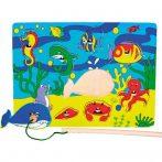 Fa puzzle - Csikóhalas mágneses horgász