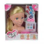 Lányos játékok - Babafej smink és fodrász játékokhoz