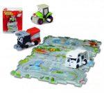 Műanyag járművek - Kisautó puzzle autópályával Dickie
