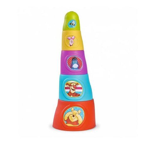 Fejlesztő játékok - Bébi játékok - Disney baby Micimackó építőtorony 37cm Simba