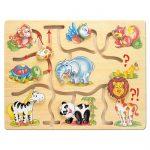 Fa játékok - Nagy állatfejes útvesztő