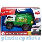 Műanyag járművek - Kukásautó konténerrel hanggal és fénnyel Dickey Toys