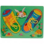 Fa puzzle - Fűzős cipő