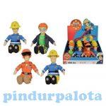 Sam a tűzoltó játékok - Plüss figura Sam pilóta ruhában 25 cm