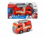 Műanyag járművek - Tűzoltóautó mókás magától gurulós Happy Scania Fire Truck