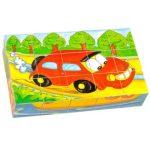 Gyerek Puzzle - Kirakósok - Mesekocka 15 db-os (autós)