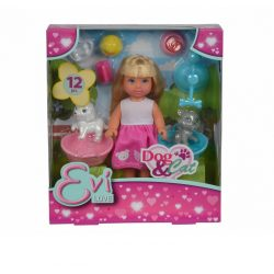 Műanyag babák - Steffi babák - Evi Love Játékbaba szett Kutya Cica