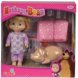 Műanyag babák - Masha és a Medve lefekvés elött