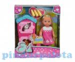Műanyag babák - Evi Love nyuszi házzal