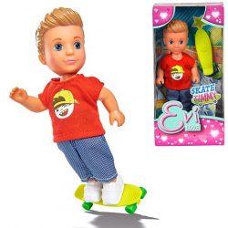 Műanyag babák - Evi Love Timmy fiú játékbaba gördeszkával