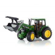 Műanyag járművek - Bruder John Deere 6920 traktor homlokrakodóval