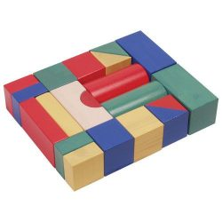 Építőkocka - 5 cm-es - színes