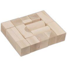 Építőkockák - Fa játékok - Natúr nagy méretű építőkocka szett