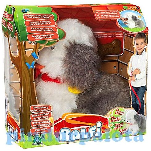 Interaktív játékok - Ralfi Ineraktív Bobtail - Plüss kutyus