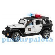 Műanyag járművek - Bruder Jeep Wrangler Unlimited Rubicon rendőrségi jármű