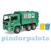 Műanyag járművek - Bruder MAN szemetes zöld