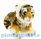 Plüss Tigris - barna-fekete-fehér - 45cm - Plüss állat