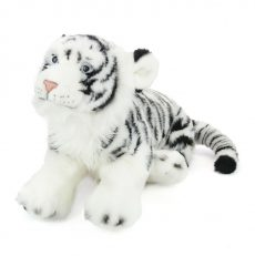 Plüss Tigris - fekete-fehér 45cm - Plüss állat