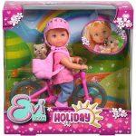 Műanyag babák - Stefi babák - Evi Love Játékbaba biciklivel