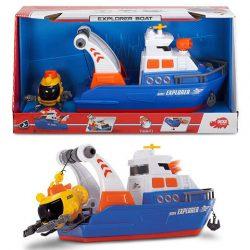 Vizezős játékok - Kis hajók gyerekeknek - Játék kutató hajó tengeralattjáróval 33 cm