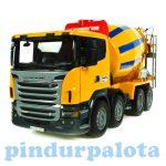 Műanyag járművek - Bruder SCANIA R-szériás betonkeverő