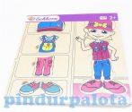 Puzzle - Kirakó - Fa ügyességi játék - Öltöztetős