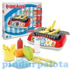 Játék konyhák - Edények - Játék élelmiszerek - Magic Fry Játék fritőz készlet kisüthető ételekkel