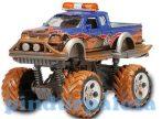 Játék autók - Autós játékok - Rally Monster Truck kék autó Dickie Toys Action