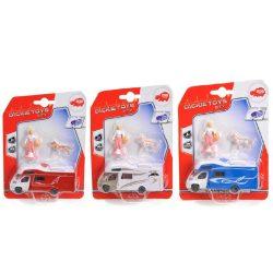 Játék autók - Autós játékok - Lakóautó emberrel és állattal Camper set Dickie Toys